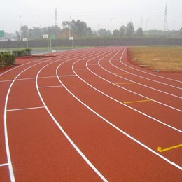 Sports field plastic runway particles
